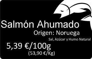 Etiquetado precios pescadería