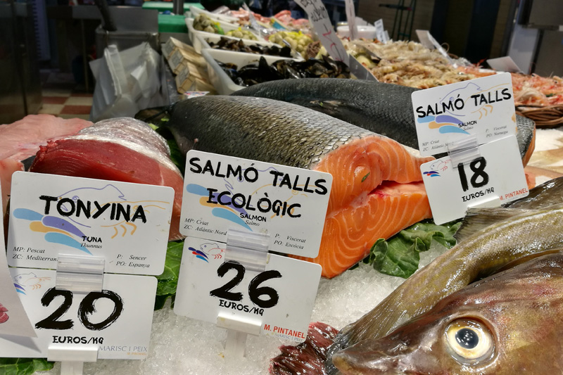etiquetado de precios Edikio pescaderías y marisquerías