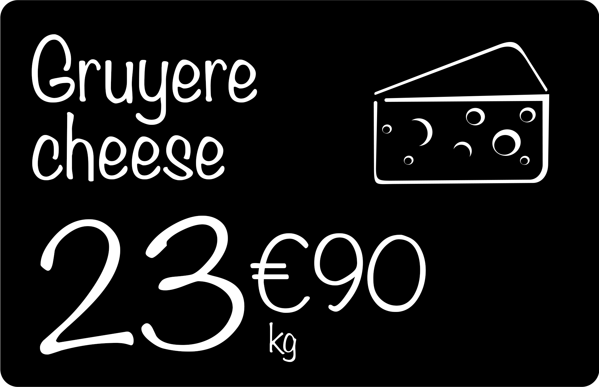 CARTES PRICE TAG cheese