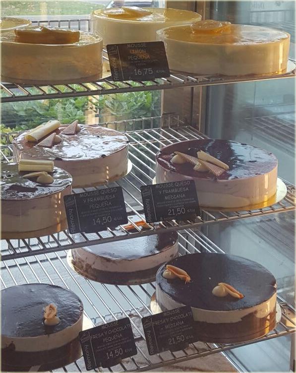 portaprecios pastelería