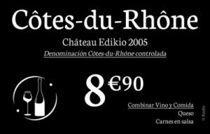 Tarjetas portaprecios Edikio para vino y licores