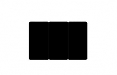 Edikio tarjeta negra troquelada