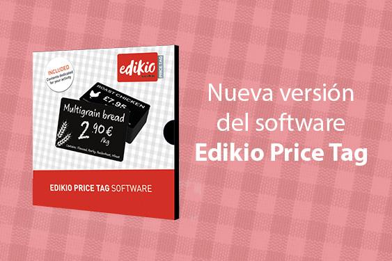 Nueva versión del software Edikio Price Tag